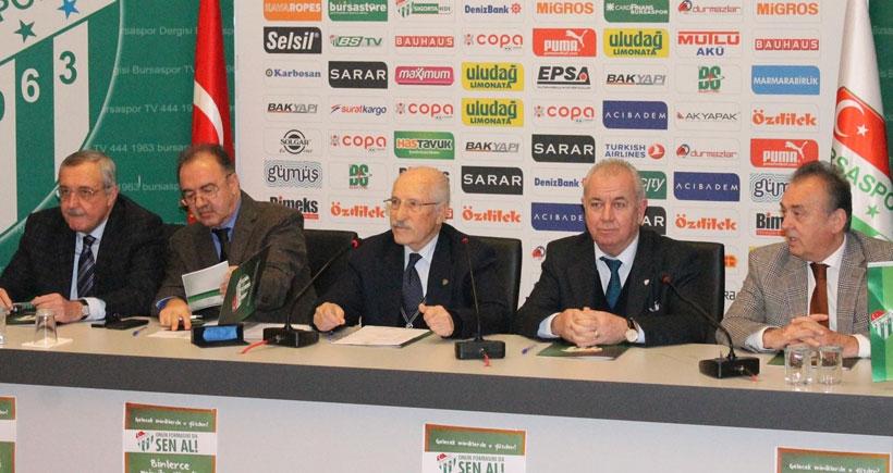 Bursaspor Başkanı: Satılık futbolcumuz yok