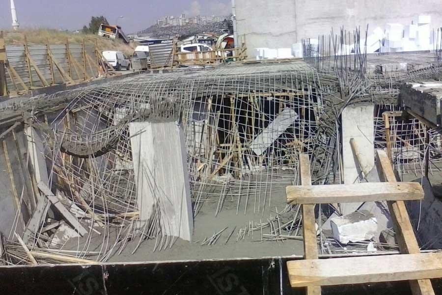 Dershane inşaatında çalışan öğrenci kaza geçirdi