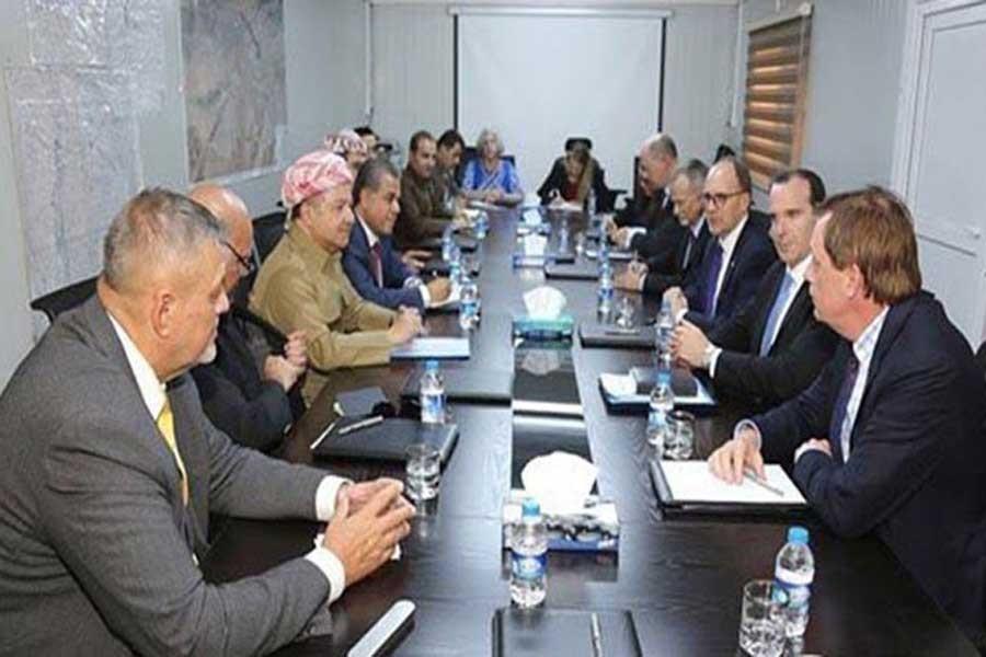 Barzani, çeşitli ülke ve BM temsilcileri ile görüştü