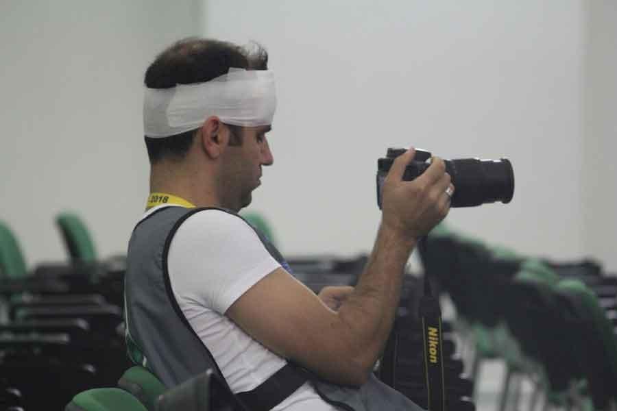 Bursaspor-Galatasaray maçında 4 gazeteci yaralandı