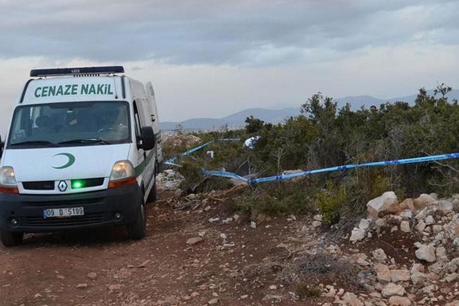 Aydın'da yanmış kadın cesedi bulundu