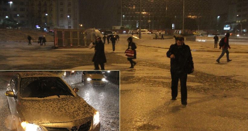 İstanbul'u dolu vurdu