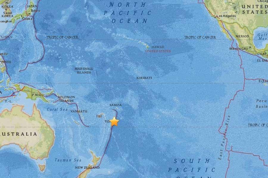 Pasifik ülkesi Tonga'da 6.0 büyüklüğünde deprem