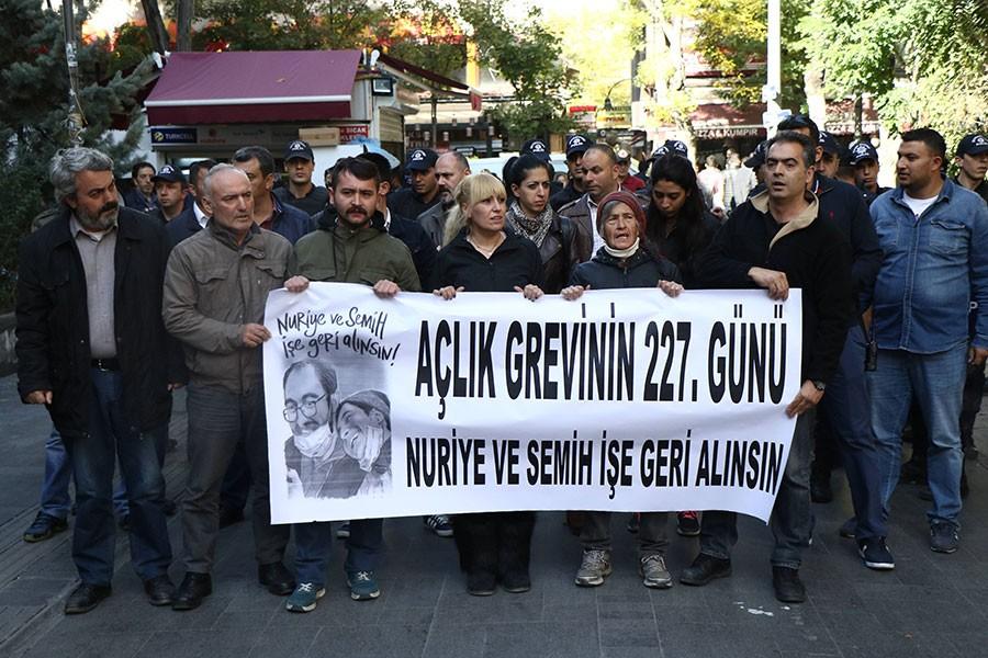Polis Yüksel eylemine 347. günde yine saldırdı: 7 gözaltı