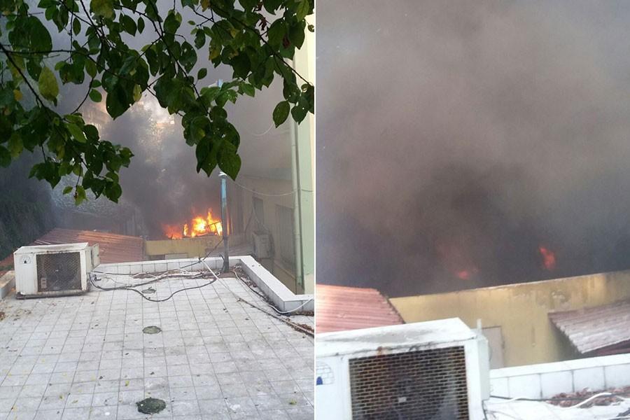 Haseki Hastanesinde yangın çıktı