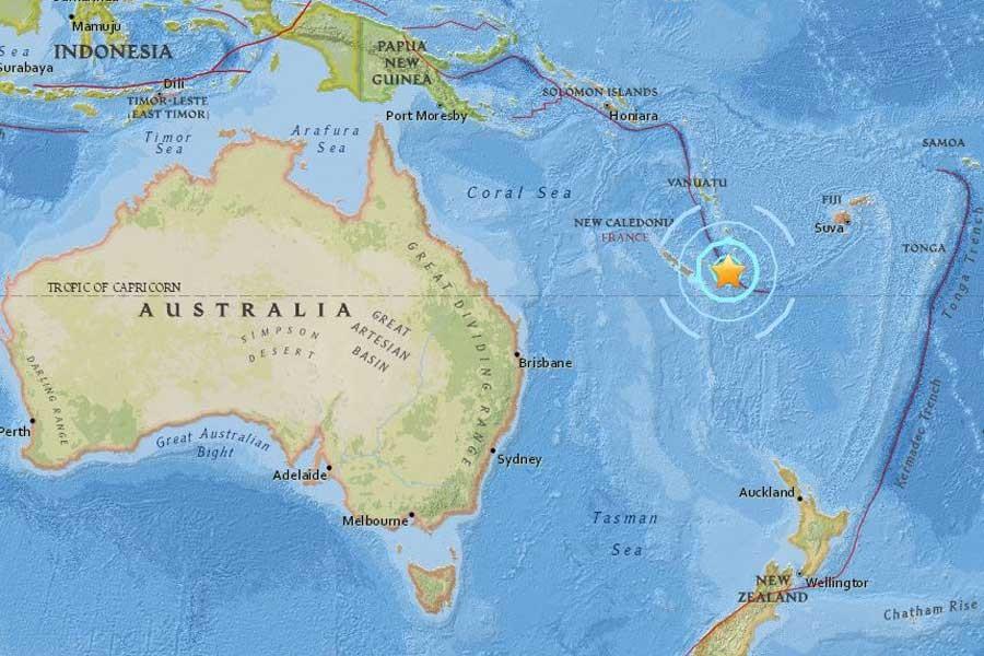 Pasifik ülkesi Yeni Kaledonya'da 6.8 büyüklüğünde deprem