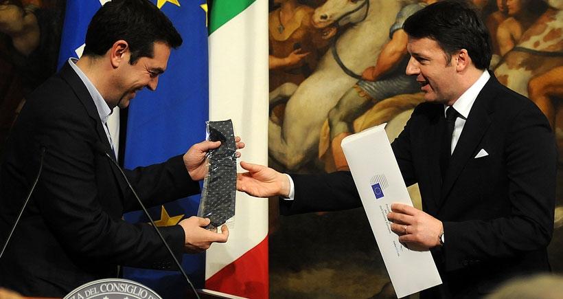 Çipras İtalya Başbakanı Renzi ile görüştü
