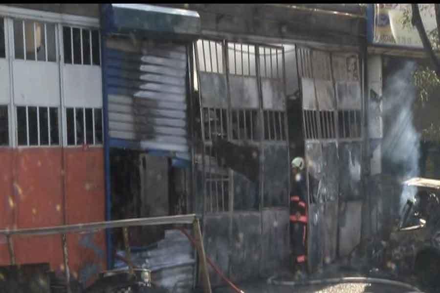 İstanbul'da sanayi sitesinde yangın çıktı