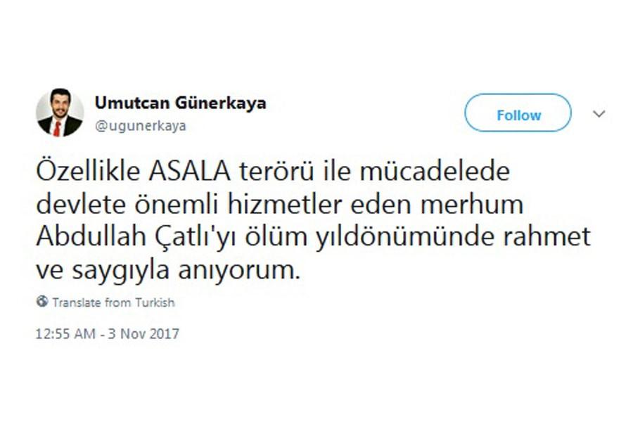 İYİ Parti kurucu üyesi, Abdullah Çatlı'yı saygıyla andı!