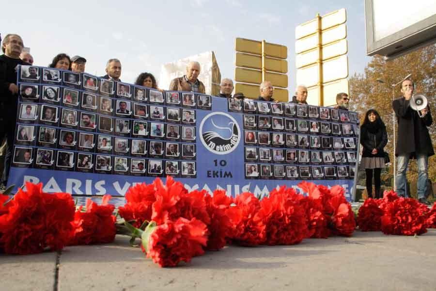 10 Ekim Ankara Katliamında yitirilenler 25. ayında anıldı