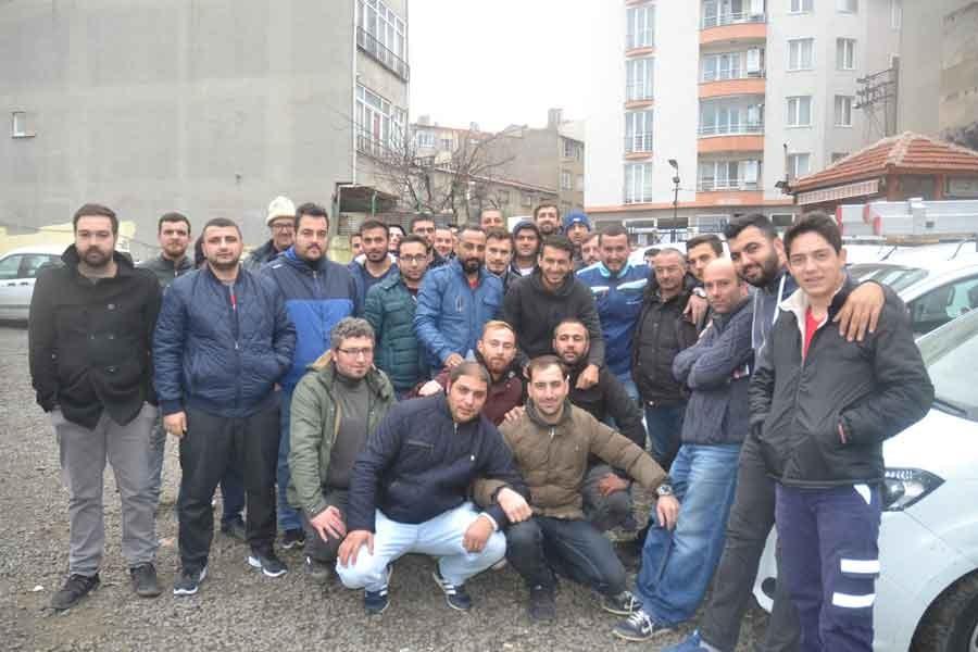 Çorlu'da Türk Telekom işçileri iş bıraktı