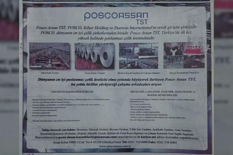 Posco Assan'da işçi kıyımı devam ediyor!