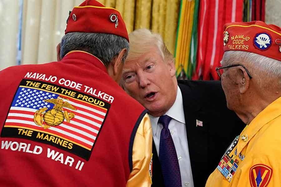 Trump, bu kez Amerika Yerlilerini aşağıladı