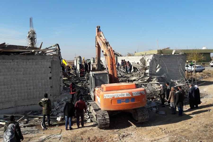 Urfa Viranşehir'de inşaat çöktü: 1 işçi yaşamını yitirdi