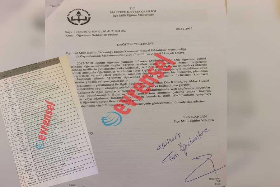 MİLİ EĞİTİM'DEN 'EVLERDE SOHBET' DÖNEMİ