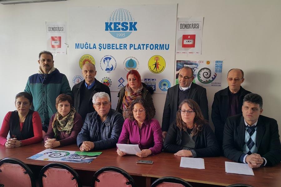 Muğla'daki tiyatro yasağına tepki gösterildi