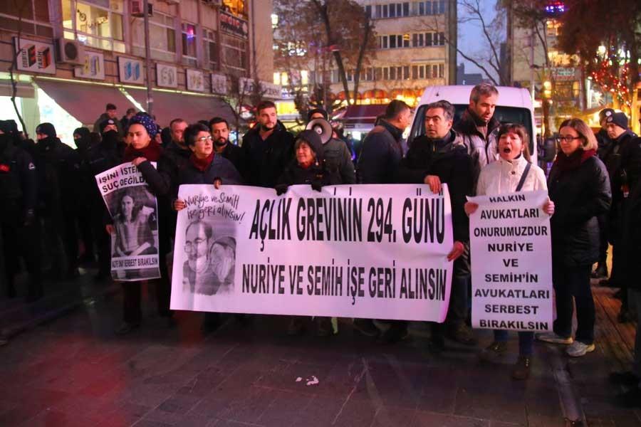 Yüksel'de 414. gün: 5 kişi gözaltına alındı