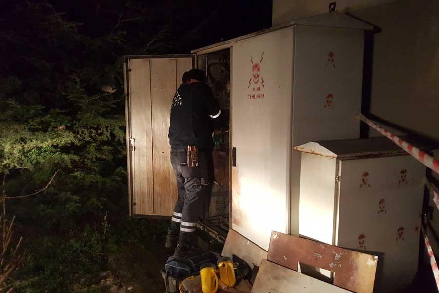 Elektrik trafosunda patlama: 2 işçi yaralı