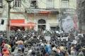 Hrant Dink anması için Agos eski binası önünde bir araya gelen kalabalık