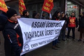 Emek Partisi Kağıthane İlçe Örgütünden asgari ücret tepkisi