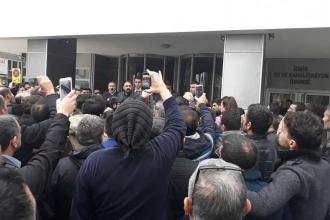 Kadro talebi reddedilen İZSU işçileri eylem yaptı