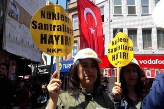 Sinop'taki nükleer mitinginin yasaklanması İstanbul'da protesto edildi