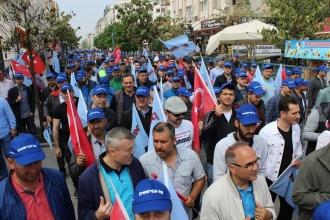 Gebzeli işçilerden kriz protestosu
