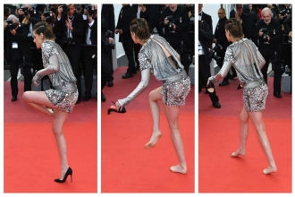 Kristen Stewart, Cannes'daki topuklu zorunluluğunu protesto etti