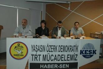 Haber-Sen: TRT'yi kamu hizmeti yayını yapmaya davet ediyoruz