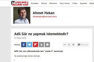 Ahmet Hakan'dan 'Barış Atay' eleştirisine yanıt