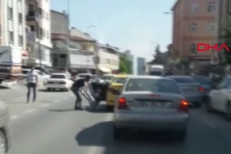 Kadın yolcuya şiddet uygulayan taksici yakalandı