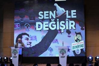 HDP'nin aday tanıtım toplantısında Demirtaş'ın mesajı okundu