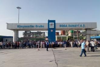 Sendika uzmanlarından Soda Sanayi işçisine destek