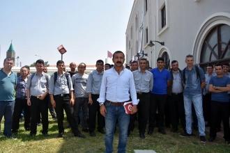 İZBAN'da görev yapan güvenlik işçilerinden yeni sözleşme tepkisi
