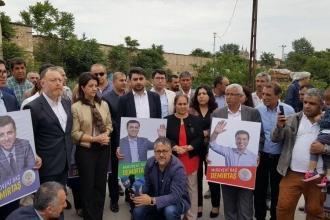 HDP seçim çalışmalarını Edirne Cezaevi önünden başlattı