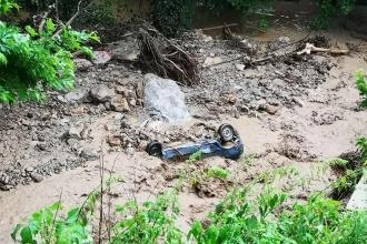 Bursa'da sel: 3 koyun öldü, araçlar mahsur kaldı