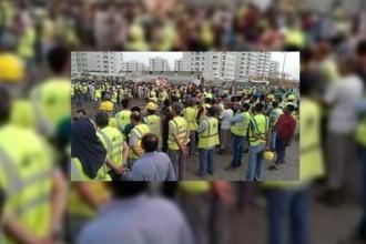 MNG MAPA'nın Suudi Arabistan Cidde'deki şantiyesinde işçiler grevde