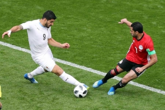 Dünya Kupası A Grubu ikinci maçında Uruguay, Mısır'ı 1-0 mağlup etti