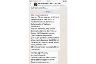 Adana'da halkeğitim, öğretmenleri Erdoğan mitingine çağırdı