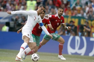 Portekiz, Fas'ı Ronaldo'nun tek golüyle mağlup etti: 1-0