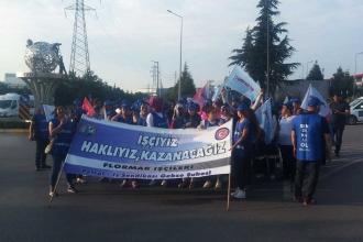 Flormar işçileri direnişlerinin 38. gününde Gebze OSB'de yürüdü
