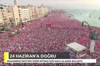Cumhurbaşkanı adayı Muharrem İnce İzmir'de miting düzenliyor