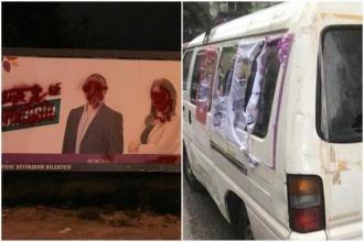 Eskişehir ve Kayseri'de HDP'nin araç ve bilboardlarına saldırı