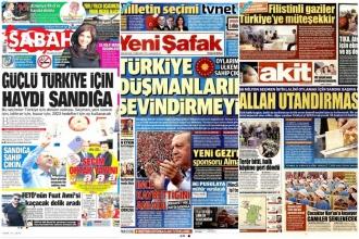 Yandaşa yasak yok; propaganda nitelikli haberleri manşette gördüler