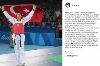 Milli tekvandocu Nur Tatar Askari sporu bıraktı: Mazlumun ahı çıkar