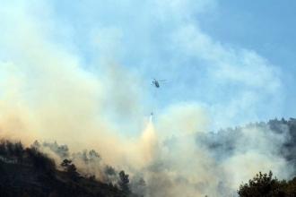Amanos dağlarında çıkan yangında 35 hektarlık orman alanı zarar gördü