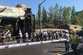 Yatağan Termik Santrali'nde kömür sevk kanalı çöktü: 11 işçi yaralı