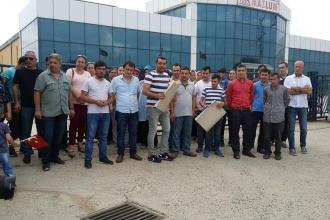 Çorlu'daki Mazlum Ambalaj işçileri haklarını istiyor