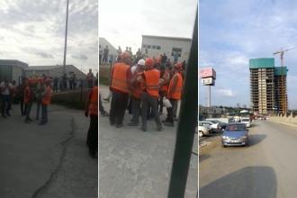 GYA'nın maaşını ödemediği inşaat işçileri iş bıraktı