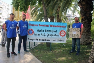 Aydın'da işçiler 72 gündür eylemde